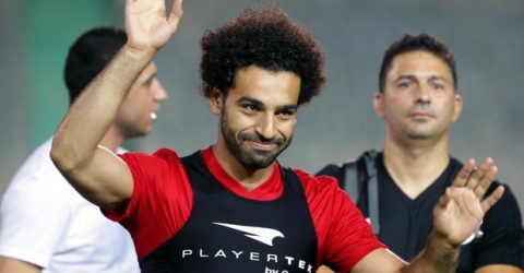 Salah joins Egypt training session