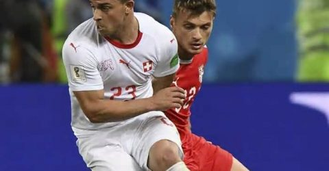 Switzerland beat Serbia 2-1 in World Cup