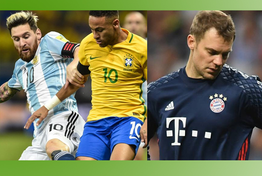 Neymar's Brazil look strong as Germany, Argentina tackle problems