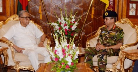 Army chief pays farewell call on President