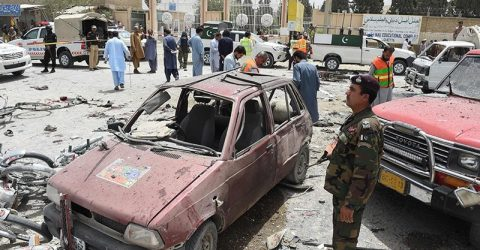 At least 30 killed in suicide blast on Pakistan polling station