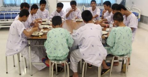 Thai cave boys leave hospital ahead of press conference