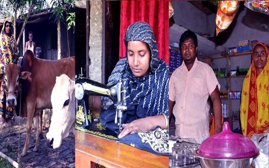 Osmanpur Asrayan dwellers overcome economic vulnerability