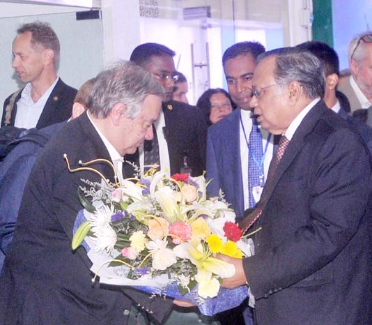 Guterres arrives to assess progress of Rohingyas repatriation