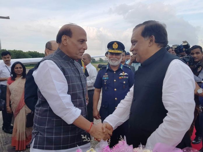 Indian Home Minister Rajnath Singh arrives