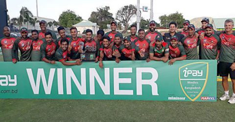 Tigers beat West Indies by 18 runs to clinch ODI series