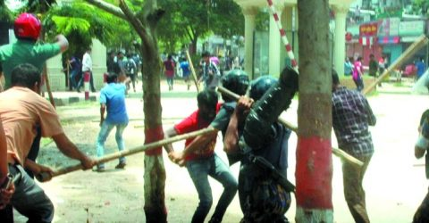 EW, NSU students clash with cops, attackers