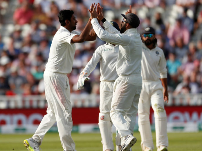 England 287 all out against India in 1st Test