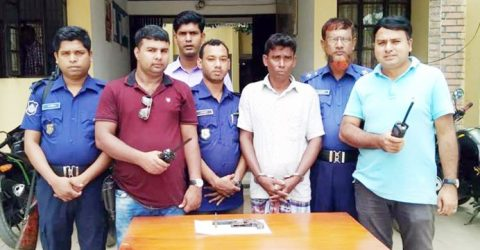 Dacoit held with arms in Baliakandi