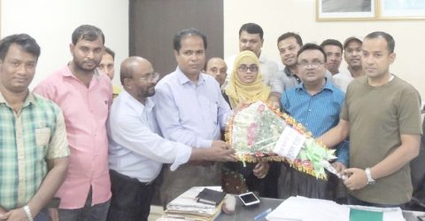 Habiganj online press club greets new SP Mohammed Ullah