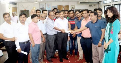 BSMRSTU provides financial aid to ailing student Injamamul