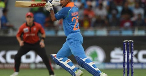 India avoid Hong Kong upset after Dhawan's hundred