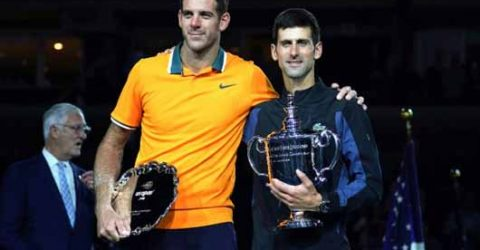 Del Potro backs Djokovic to break Federer's 20-Slam record