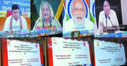 Hasina, Modi, Mamata open power station at Bheramara