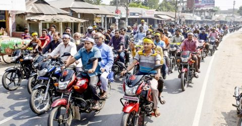 AL election aspirant Abu Bakr holds massive motorcycle showdown