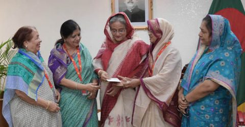 PM distributes cheques of donation
