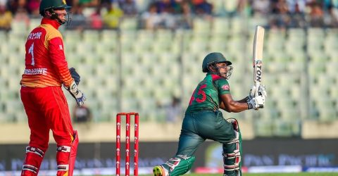 Imrul Kayes ton crushes Zimbabwe in first ODI