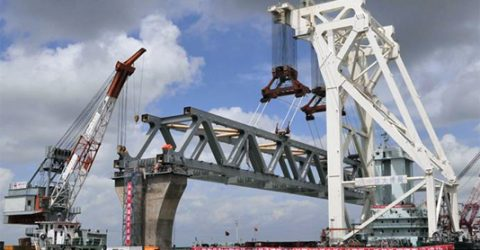 9th span of Padma Bridge installed