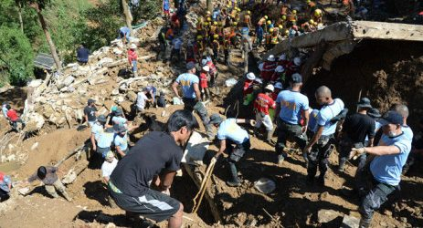 Hunt for landslide victims as Philippines typhoon toll climbs