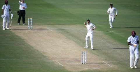 Holder removes Kohli to dent India's reply in 2nd Test