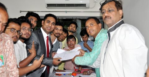 Jobaer Alam collects AL nomination form for Nilphamari-3 constituency