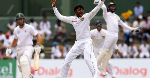 Sri Lanka's Dananjaya reported for suspicious action