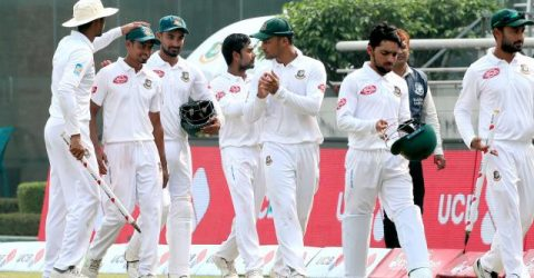Tigers level Test series beating Zimbabwe by 218 runs in Dhaka Test
