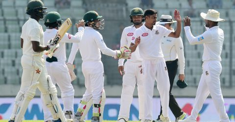 Mushfiqur emerges highest run getter, Taijul highest wicket taker in BD-ZIM Test series