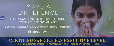 The One and Only Officially Certified SafeHotels Alliance Hotel in Bangladesh