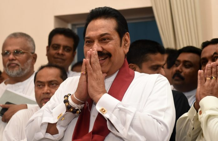 Rajapakse rally gathers as Sri Lanka showdown toughens