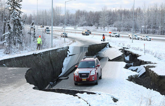 Alaska hit by powerful earthquake, buildings damaged