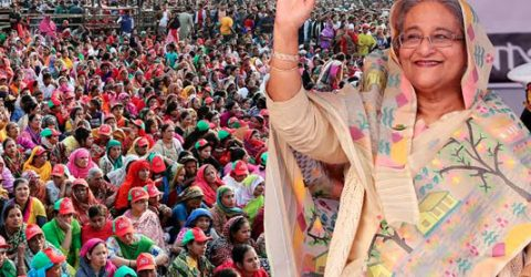 PM urges city dwellers to vote for Awami League to build scenic Dhaka