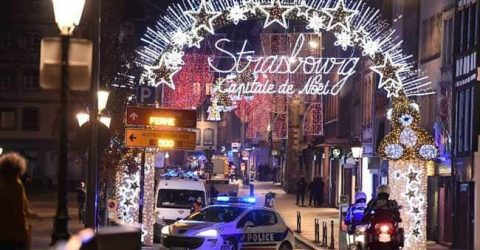 Hunt for gunman after Strasbourg market attack kills three