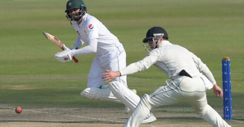 Azhar completes hundred as Pakistan reach 192-3