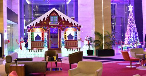 Radisson Blu presents first snow in Chattogram