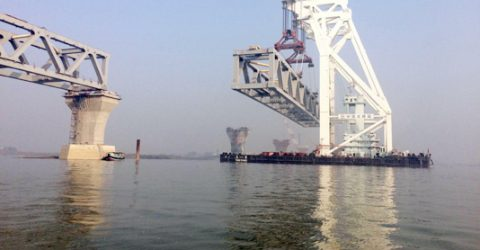 11th span of Padma Bridge installed