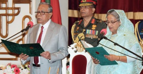 Sheikh Hasina takes oath as PM for historic fourth term