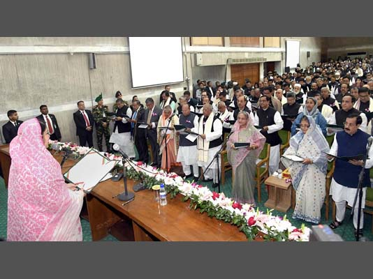 Newly-elected MPs including Sheikh Hasina take oath