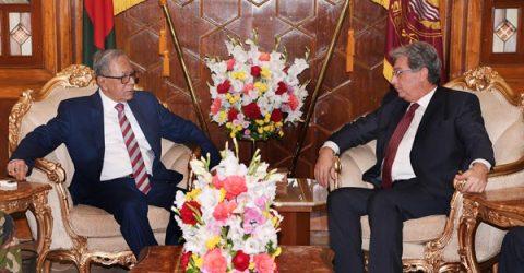 Outgoing Italian, Brunei envoys call on President