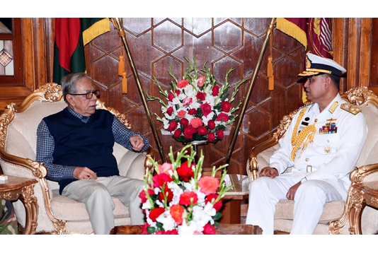Navy chief calls on President