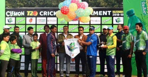 Clemon cricket tournament begins in Rajshahi