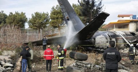 Iran army says 13 dead in cargo plane crash