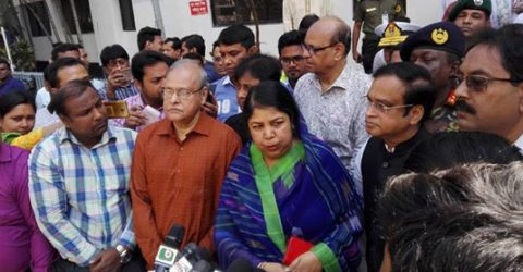 Speaker visits Chakbazar fire victims at DMCH burn-unit