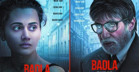 Amitabh Bachchan  and Taapsee Pannu  look intense in new Badla poster