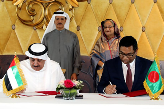Bangladesh, UAE sign four MoUs