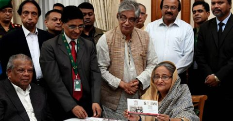 PM releases stamp on Bangabandhu title's golden jubilee