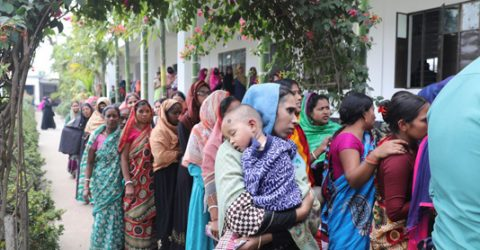 City polls end peacefully, counting underway