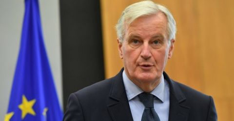 Barnier says Brexit talks now between UK govt and MPs