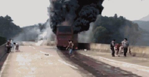 26 dead in central China tour bus fire