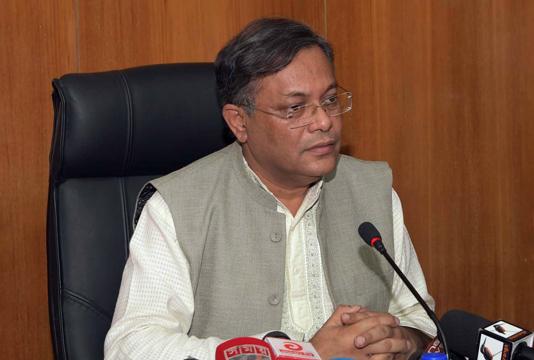 Info minister Hasan Mahmud tests Covid-19 positive
